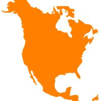 map, north america, continent